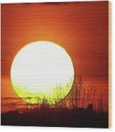 Columbia Gorge Sunset Wood Print