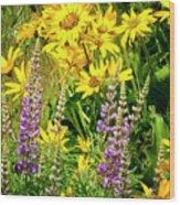 Columbia Gorge Wildflowers Wood Print