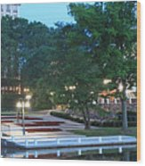 Columbia Lakefront Panorama Wood Print