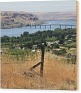 Columbia River - Biggs And Maryhill State Park Wood Print by Carol Groenen