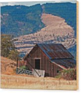 Columbia River Barn Wood Print