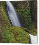 Columbia River Gorge Falls 1 Wood Print