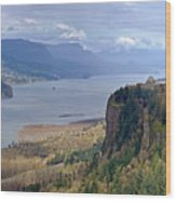 Columbia River Gorge Oregon State Panorama. Wood Print