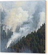 Columbia River Gorge Wildfire 2017 Wood Print
