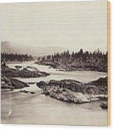 Columbia River: Kettle Falls Wood Print