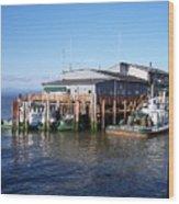 Columbia River Port Wood Print
