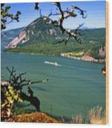 Columbia River Traffic Wood Print