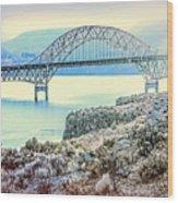 Columbia River Vantage Bridge Wood Print