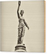Columbia Statue Atop Memorial Hall Wood Print