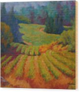 Columbia Valley Vineyard Wood Print