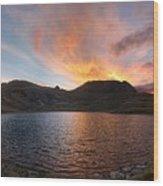 Columbine Lake Sunset - Weminuche Wilderness - Colorado Wood Print