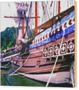 Columbus Day Celebration Wood Print