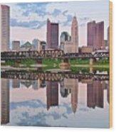 Columbus Ohio Reflects Wood Print