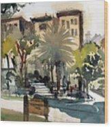 Columbus Park Bayshore Tampa Wood Print