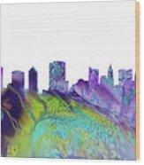 Columbus Skyline 3 Wood Print