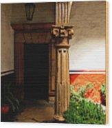 Column In The Corridor Wood Print