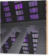 Column Stain Purple Wood Print