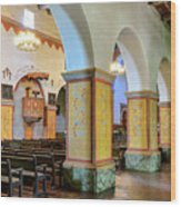 Columns At San Juan Bautista Mission Wood Print