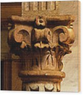 Column's Capital Wood Print