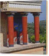 Columns Of Knossos Greece Wood Print