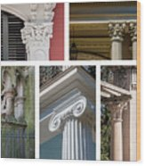 Columns Of New Orleans Collage Wood Print