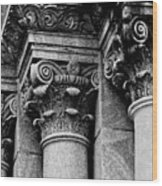 Columns Of St. Roch Church Watercolor Wood Print