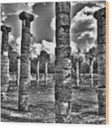 Columns Of Support Wood Print