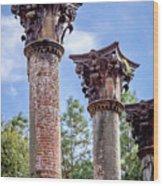 Columns Of Windsor Ruins Wood Print