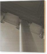 Columns To The Sky Wood Print