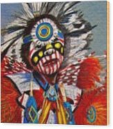 Comanche Dance Wood Print