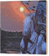 Comanche Spirit Wood Print