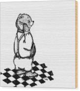 Comb Bear Wood Print