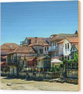 Combarro Village Waterfront Panorama Wood Print
