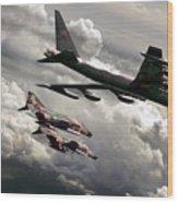 Combat Air Patrol Wood Print