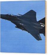 Combat Jet Wood Print