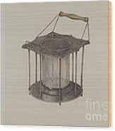 Combined Stove And Lantern Wood Print