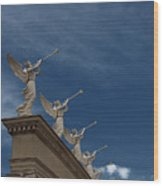 Come Blow Your Horn - Angels And Trumpets - Caesars Palace Las Vegas Wood Print