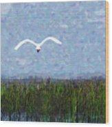 Come Fly Away Wood Print