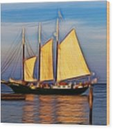 Come Sail Away Wood Print