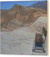 Come Sit Awhile In Death Valley Wood Print