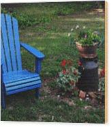 Come Sit  Wood Print