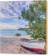 Come To Curacao Wood Print