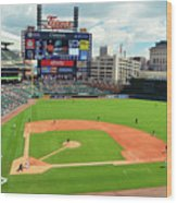 Comerica Park, Home Of The Detroit Tigers Wood Print