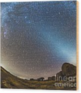 Comet Lovejoy And Zodiacal Light Wood Print