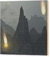Comet Shower Wood Print