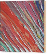 Comet Tail. Colorful Painter Palette. Exhausted Paint And Abstract Painting. Wood Print
