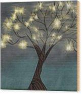 Comet Tree Wood Print