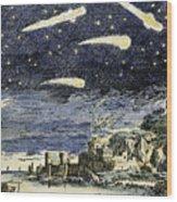 Comets Wood Print