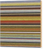 Comfortable Stripes Vl Wood Print by Michelle Calkins