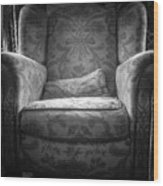 Comfy Chair By The Window Wood Print